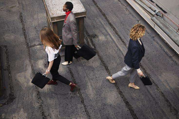 Models are wearing SONYA LEE Bags  in Black for ZANE FW17