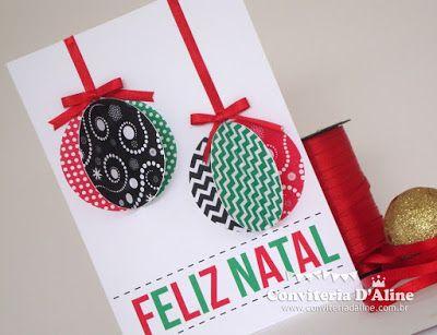 http://blog.conviteriadaline.com.br/2013/12/diy-cartao-de-natal.html Faça você mesmo: cartão de natal!