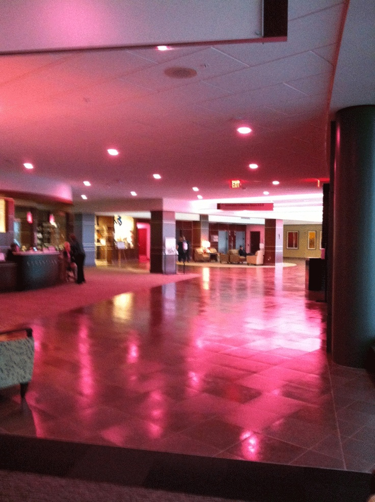 The lobby of Hall-Perrine Cancer Center reminds women to get a mammogram. #breastcancer