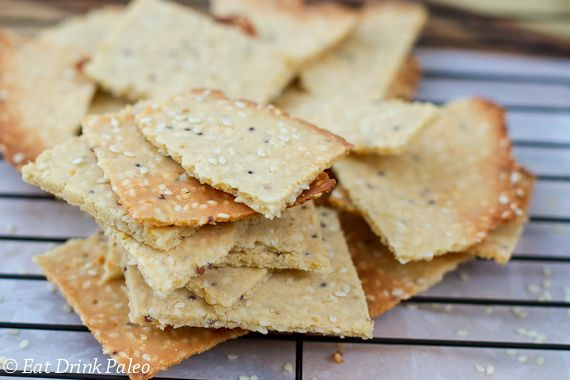 Tahini & Wholegrain Mustard Paleo Crackers | Eat Drink Paleo