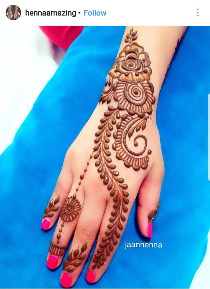 Simple Henna Bridal Mehndi Designs For Hands Henna Tattoo
