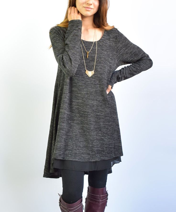 Look at this éloges Charcoal Layered Tunic on #zulily today!