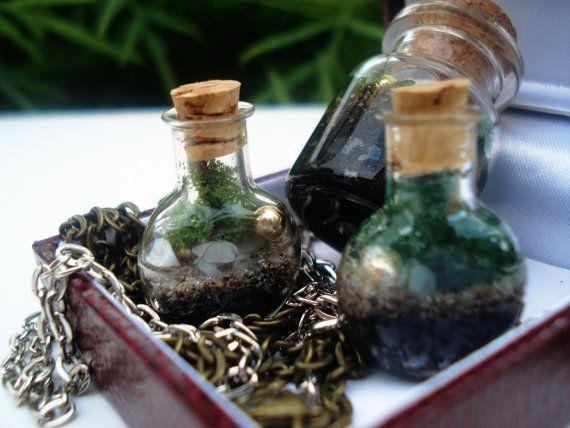 Terrarium Wish bottle Mini #Terrarium #Wishbottle by DreamADesign