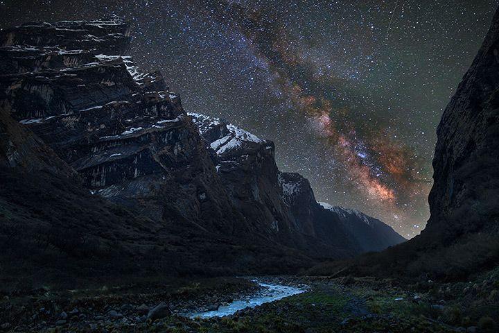 Mardi Khola valley in the Himalayas by Anton Jankovoy