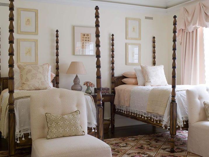 Spectacular beds.  East Hampton Home.  Phoebe Howard Interiors