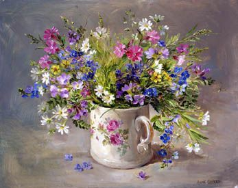 Ann Cotterill   OIL                               Wild Flowers in the Victorian Mug