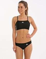 Adidas 3 Stripe Two Piece - Black and White The chlorine resistant Adidas 3 Stripe Two Piece for ladies swimming is ideal for regular fitness swimming and gives fantastic flexibility and freedom in all strokes http://www.MightGet.com/january-2017-13/adidas-3-stripe-two-piece--black-and-white.asp