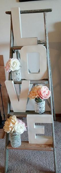 Old ladder -- love letters