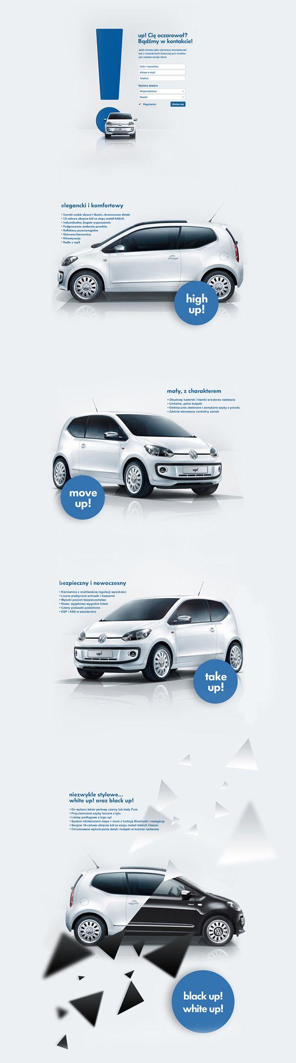 Volkswagen up! by Malgorzata Studzinska, via Behance    http://www.behance.net/gallery/Volkswagen-up/4664169
