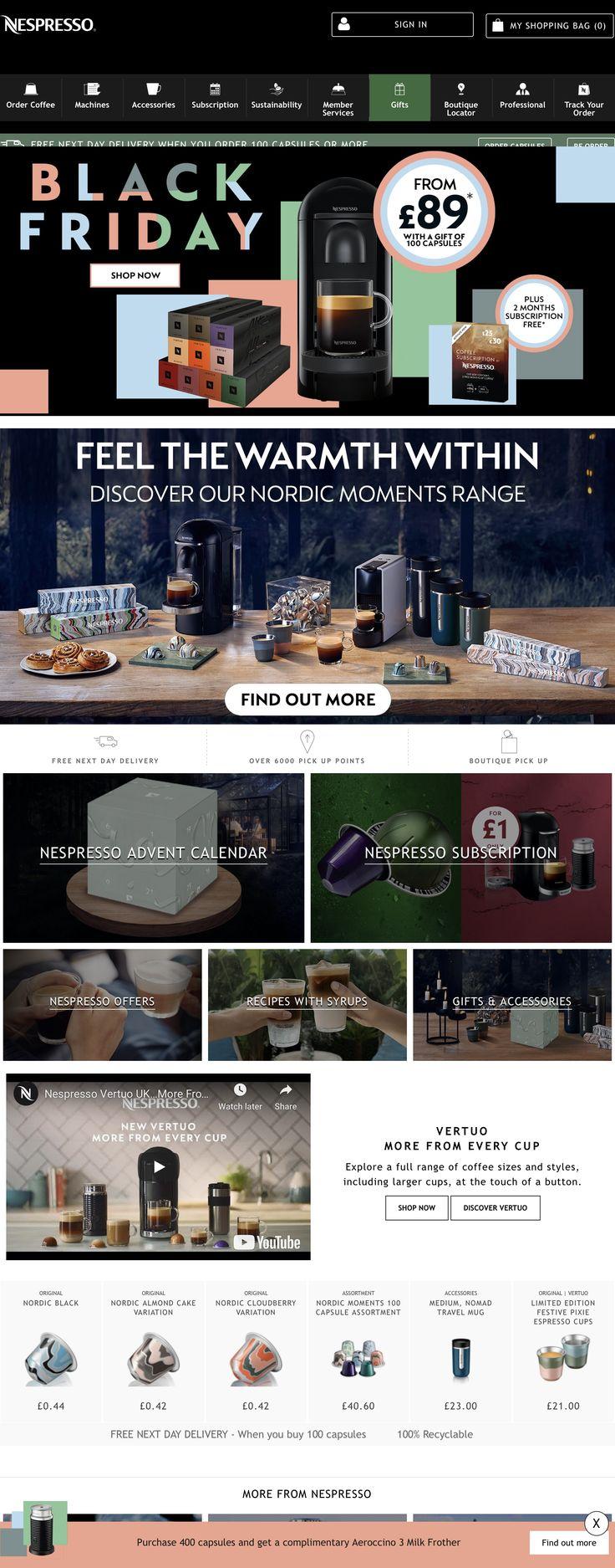 Nespresso UK Nespresso, Home coffee machines, Coffee