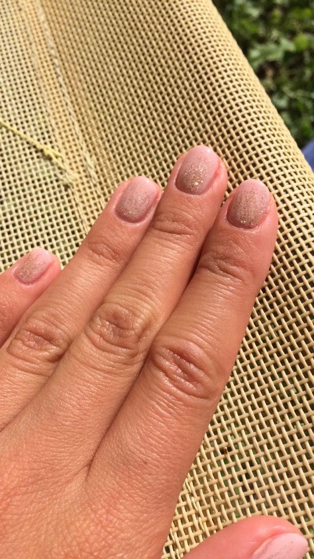 #nude #lilinails #nails #gold #shine #summer
