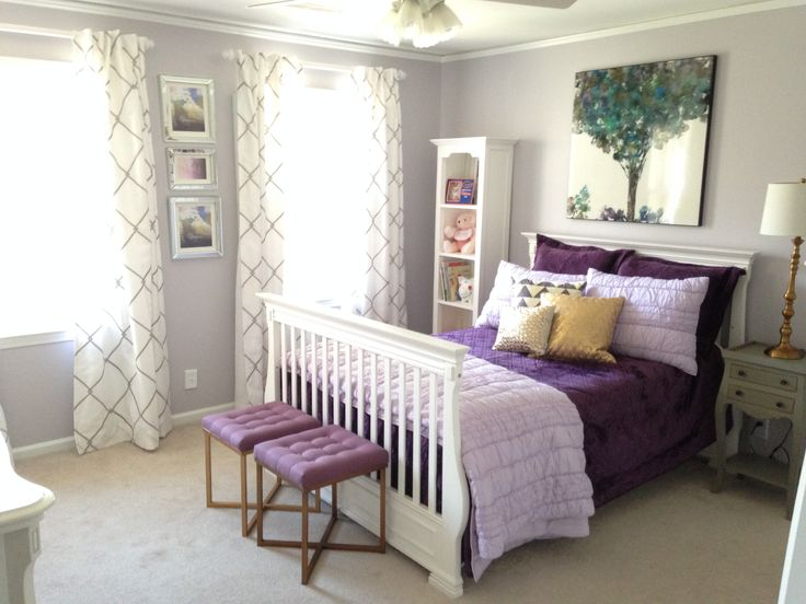 135 best images about girls bedroom ideas on pinterest for Deep purple bedroom ideas