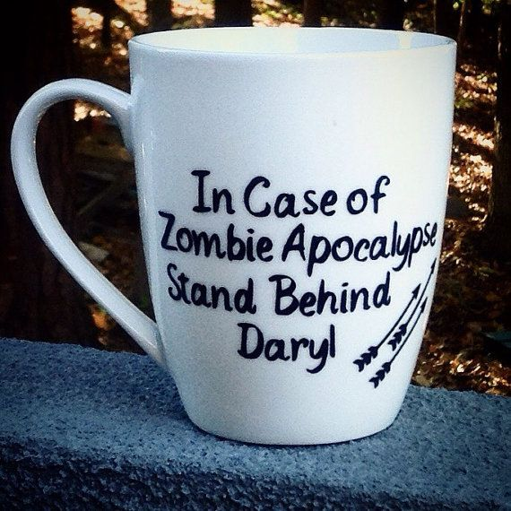 Zombie Apocalypse Daryl Coffee Mug The Walking by SeaSideSandys