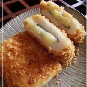 揚げないヘルシーフライ☆中から熱々‼チーズがとろ~り、アクセントに大葉を挟んで焼くだけ。  ダイエット中に♬お弁当にも◎
