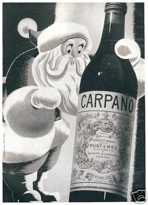VERMOUTH PUNT E MES CARPANO TORINO Navidad 1949 http://bit.ly/pinpuntemes #vermut #lovermut #vermouth