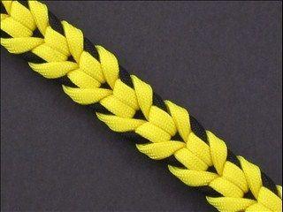 Oat Spike Sinnet | Fusion Knots | Paracord pattern - Comics Wolverine colours