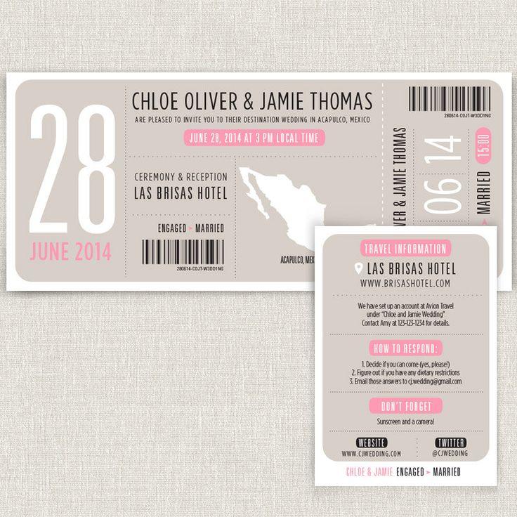 87 best Invitations   Arrival bags images on Pinterest Bridal - best of sample invitation via email