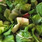 Apple Romaine Salad with Honey Mustard Vinaigrette Dressing