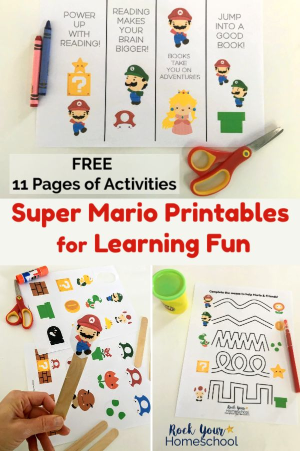 Free Super Mario Printables for Learning Fun with Kids – Best of  Rock Your Homeschool