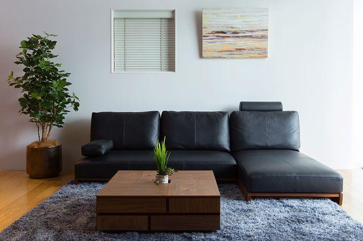 カテゴリーから探す :: ソファ :: WEBB カウチソファ レザー - おしゃれ家具インテリアショップ リビングハウス公式通販サイト