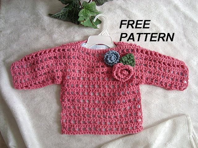 mesh crochet sweater free pattern