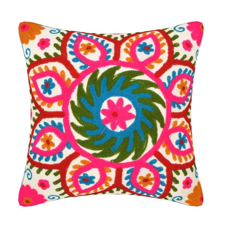 Embroidered Cushion cover Indian Handmade SUZANI cushion cover pillow cover  #Handmade