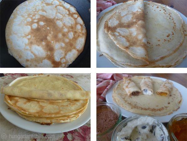 How to make hungarian pancakes