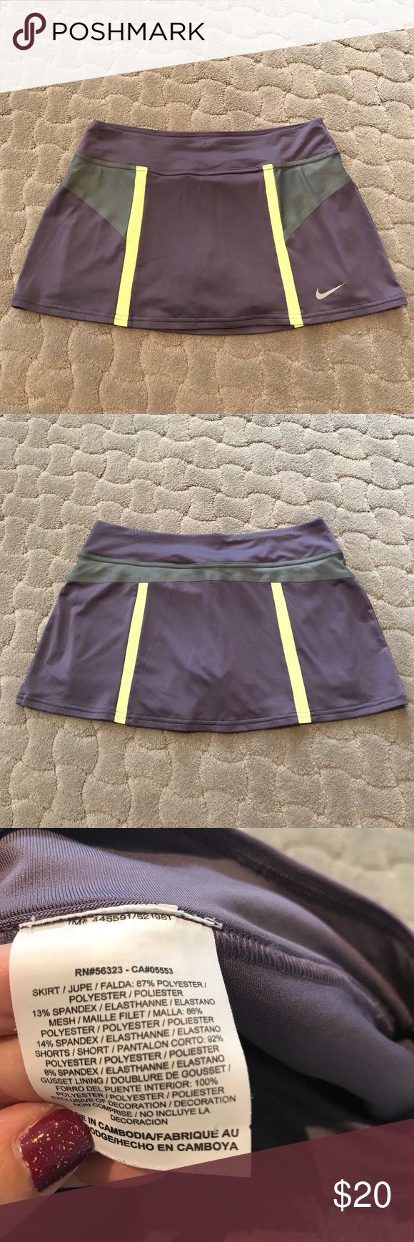 LIKE NEW NIKE SKIRT WITH BUILT-IN SHORTS LIKE NEW NIKE SKIRT WITH BUILT-IN SHORTS Nike Skirts