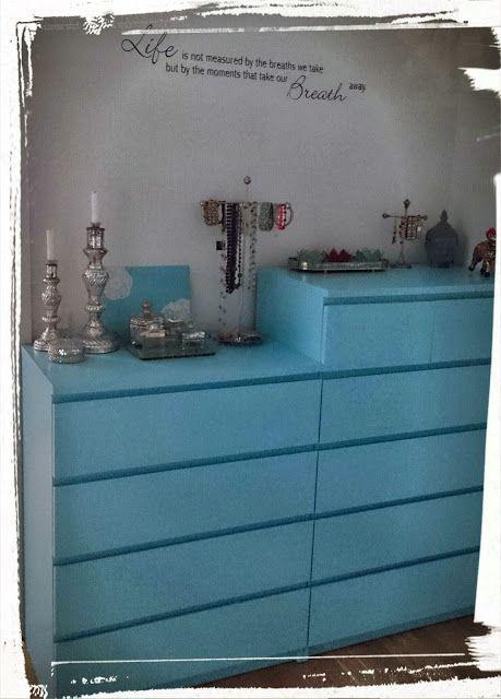 DIY upcycle laminate IKEA Malm dresser Home Decor