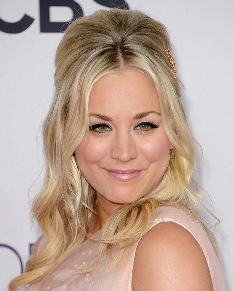 Diy Wedding Hair Half Up: How To Get Kaley Cuoco's Teased Half-Up, Half-Down