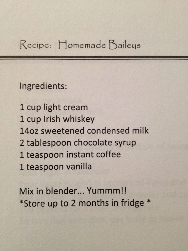 Homemade baileys...so going to make this...no way it will last 2 months in this house though, lol :)
