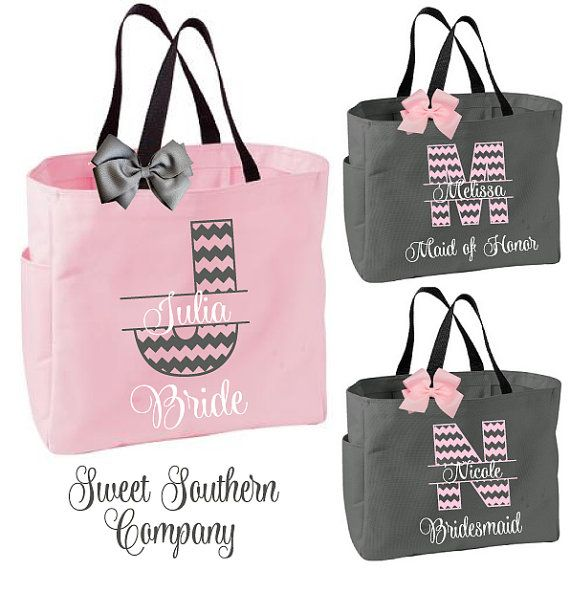 Hey, I found this really awesome Etsy listing at https://www.etsy.com/listing/220979839/5-chevron-monogram-tote-bags