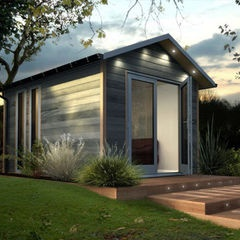 contemporary prefab studios by Decorated Shed or another sleek contemporary tiny house