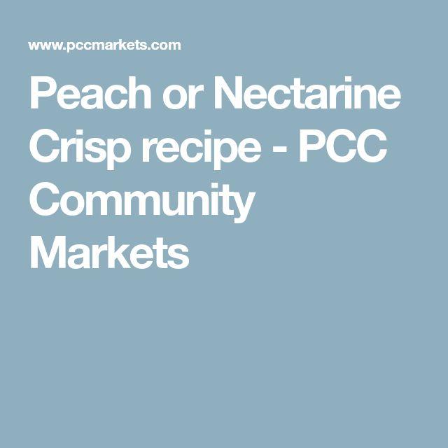 Peach or Nectarine Crisp recipe - PCC Community Markets