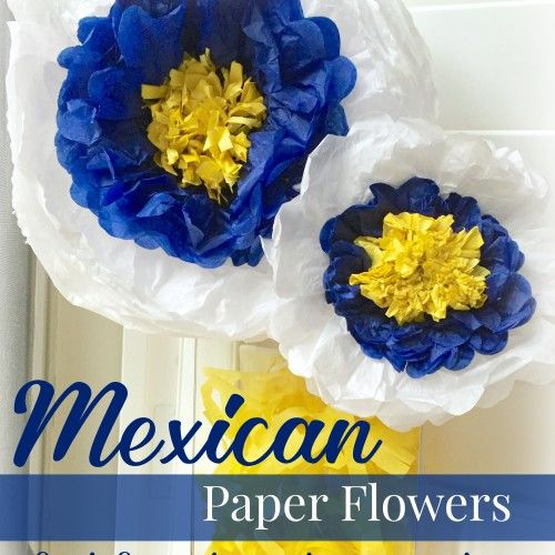 Pretty Mexican Paper Tissue Flowers DIY tutorial perfect for fun party decorations #SienteGlade ad