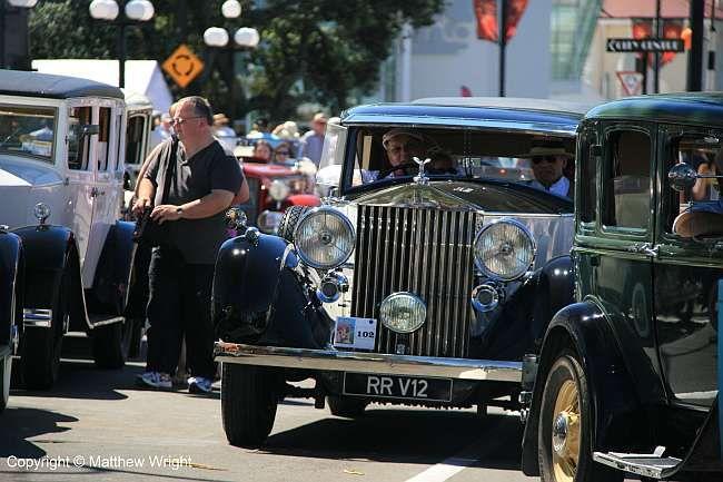 A 1937 V12 Rolls Royce Phantom III at the Napier Art Deco Weekend, New Zealand, 2014.