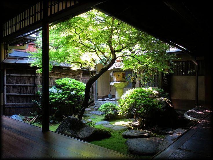 島原・角屋(中庭と網代の間)/京都の庭園と伝統建築/造形礼賛