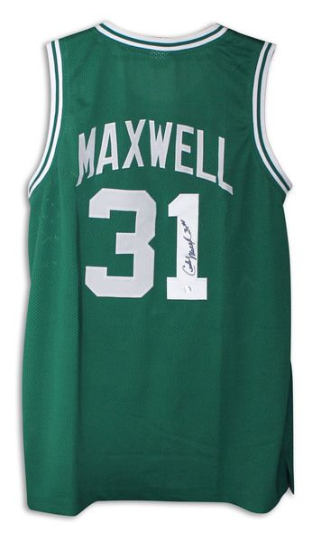 Cedric Maxwell Boston Celtics Autographed Green Jersey with COA