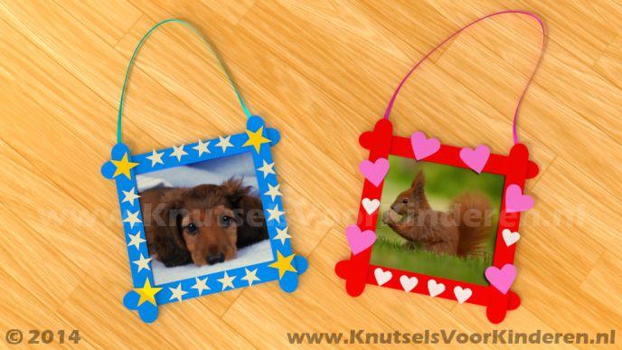 Afbeelding van http://www.knutselsvoorkinderen.nl/knutsels/Fotolijst_01/Voorbeeld.jpg.