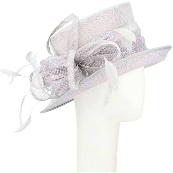 John Lewis Louisa 2 Sinamay Feather Quills Loop Occasion Hat ($72) ❤ liked on Polyvore featuring accessories, hats, cobalt, john lewis, john lewis hats, brimmed hat, crown hat and feather hat