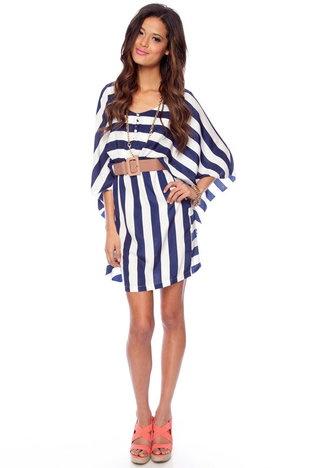 cute!Batwing Dresses, Summer Dresses, Breezy Nautical, Navy Stripes, Cute Dresses, Clothing, Closets, Bad, Stripes Dresses