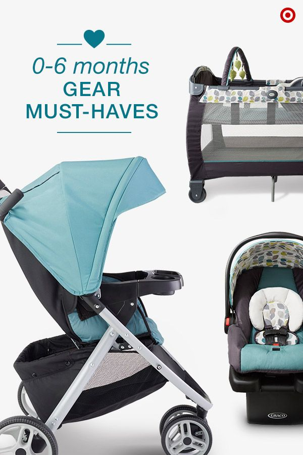 Soon you and your newborn will be on the go together. The Graco Pace Travel System is a versatile car seat/stroller combo, letting you and Baby go from riding to strolling with ease. And, the Graco Pack 'n Play is the perfect addition when visiting family or friends. It's a safe and secure place for your growing baby to play or nap, and features a convenient napper and changer, plus a toy bar to keep them entertained. Add these gear must-haves to your registry now!
