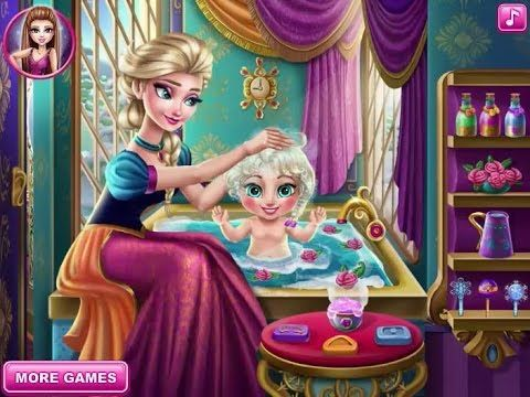 Frozen game Baby Elsa care  - Funny game for kids - Game cho bé chăm sóc...