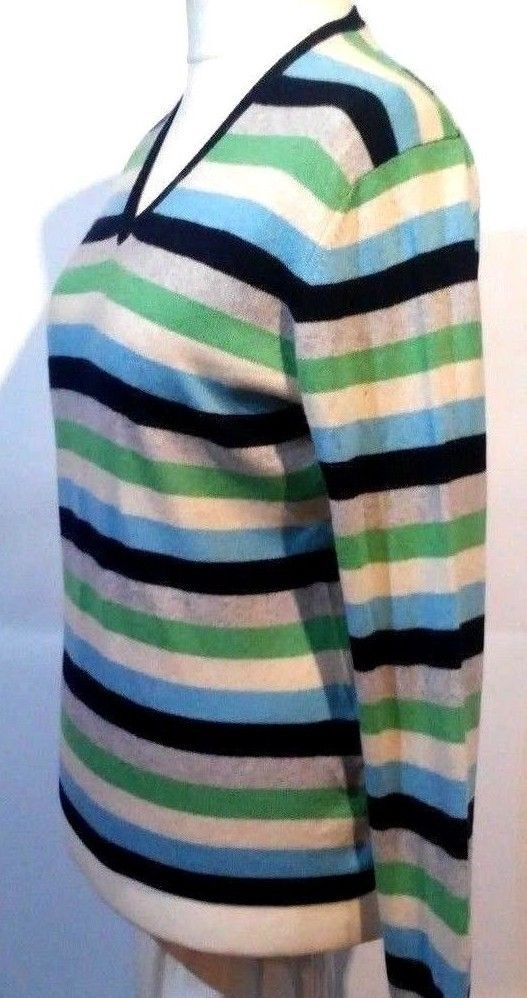 B#tumbrl#instagram#avito#ebay#yandex#facebook #whatsapp#google#fashion#icq#skype#dailymail#avito.ru#nytimes #i_love_ny     arisal Cashmere and Silk Striped Multi-Color V-Neck Casual Blouse Size M #Barisal #Blouse #Casual