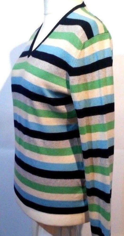 B#tumbrl#instagram#avito#ebay#yandex#facebook #whatsapp#google#fashion#icq#skype#dailymail#avito.ru#nytimes #i_love_ny     arisal Cashmere and Silk Striped Multi-Color V-Neck Casual Blouse Size M #Barisal #Blouse #Casual