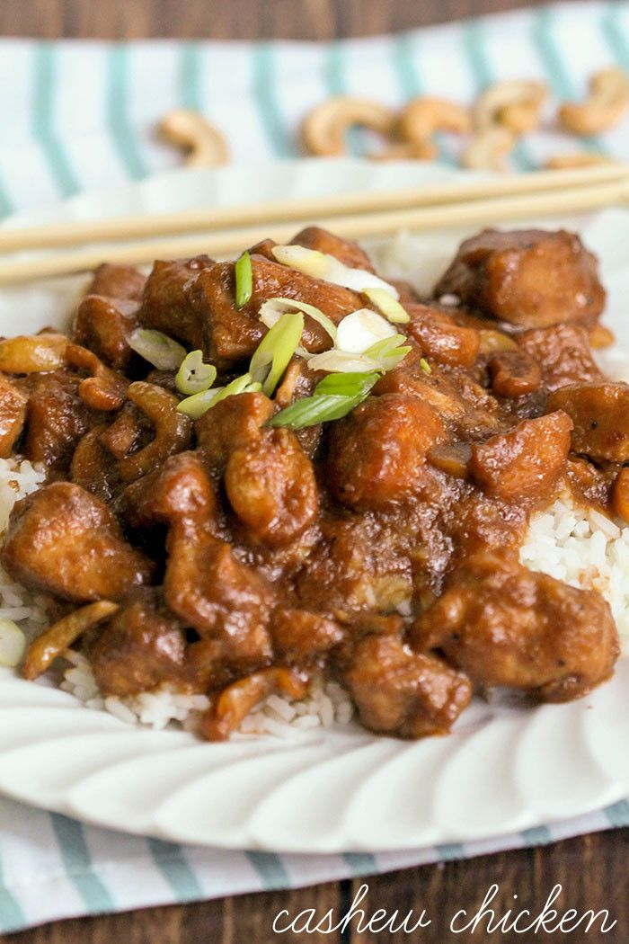 Crock Pot Cashew Chicken - such an easy and delicious dinner recipe!
