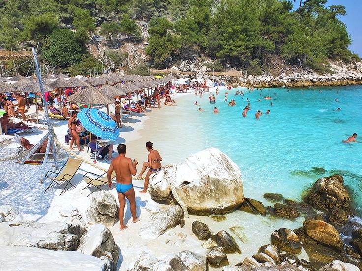 Saliara or Marble beach, Thassos island, Greece