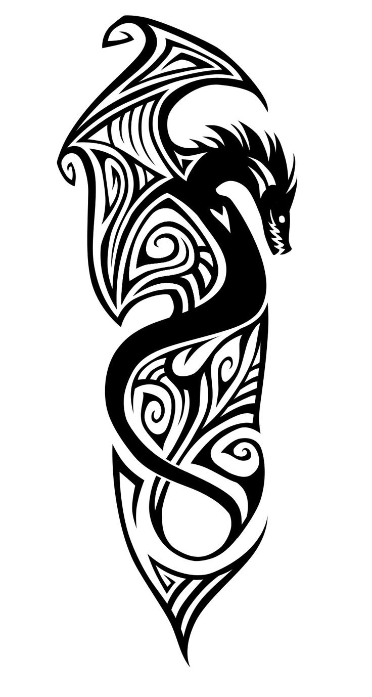 Tattoo design picture - Tribal Dragon I D Get This On My Forearm Stopping Before My Elbow Began