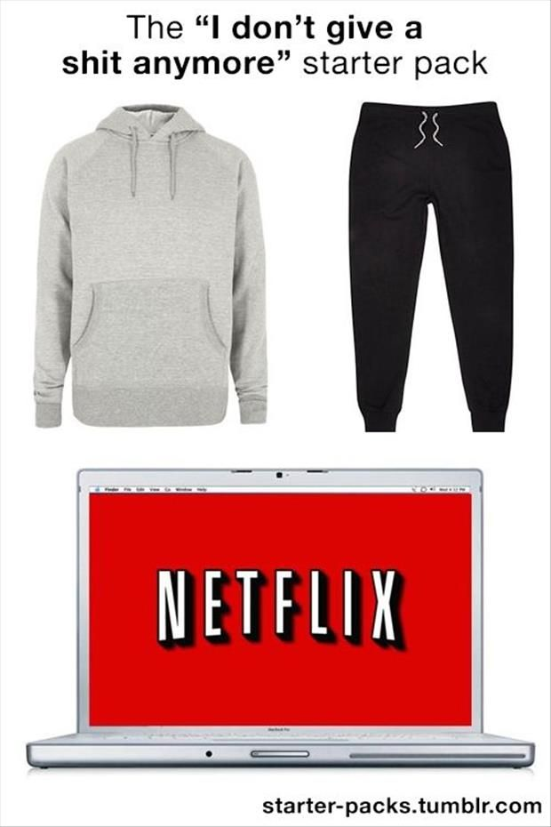 """Or the """"best weekend ever"""" starter pack"""