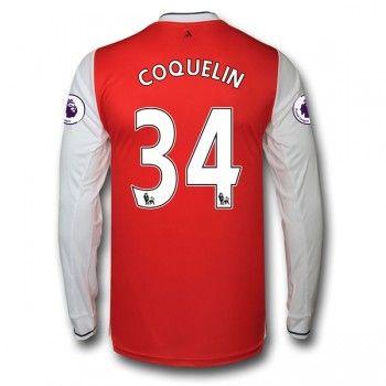 Arsenal 16-17 Francis Coquelin 34 Hemmatröja Långärmad   #Billiga  #fotbollströjor